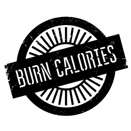 consuming: Burn calories stamp. Grunge design with dust scratches. Effects can be easily removed for a clean, crisp look. Color is easily changed.
