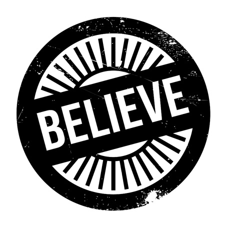 guess: Believe stamp. Grunge design with dust scratches. Effects can be easily removed for a clean, crisp look. Color is easily changed.