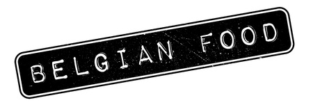 made to order: Belgian Food rubber stamp. Grunge design with dust scratches. Effects can be easily removed for a clean, crisp look. Color is easily changed.