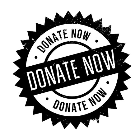 circulate: Donate now stamp. Grunge design with dust scratches. Effects can be easily removed for a clean, crisp look. Color is easily changed.