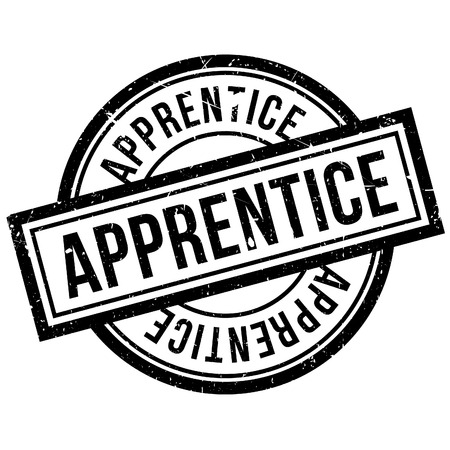 apprentice: Apprentice rubber stamp. Grunge design with dust scratches. Effects can be easily removed for a clean, crisp look. Color is easily changed.