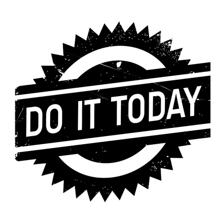 quicker: Do it today stamp. Grunge design with dust scratches. Effects can be easily removed for a clean, crisp look. Color is easily changed. Illustration