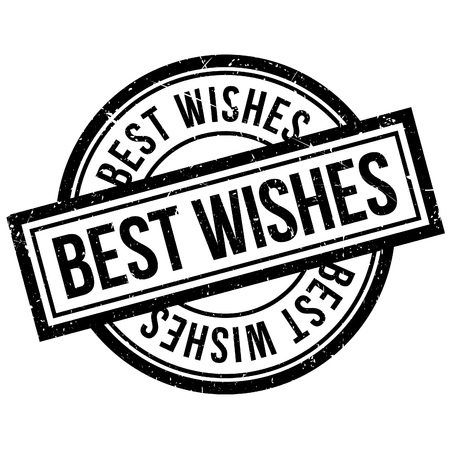 endorsement: Best Wishes rubber stamp. Grunge design with dust scratches. Effects can be easily removed for a clean, crisp look. Color is easily changed.