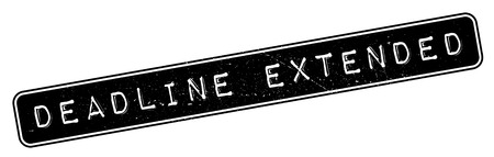 Deadline Extended rubber stamp. Grunge design with dust scratches. Effects can be easily removed for a clean, crisp look. Color is easily changed.