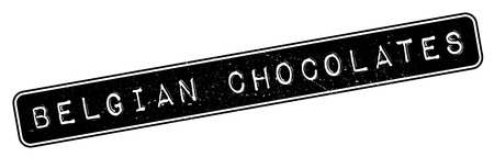 made to order: Belgian Chocolates rubber stamp. Grunge design with dust scratches. Effects can be easily removed for a clean, crisp look. Color is easily changed.