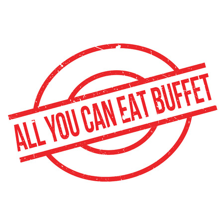buffet: All You Can Eat Buffet rubber stamp. Grunge design with dust scratches. Effects can be easily removed for a clean, crisp look. Color is easily changed. Illustration