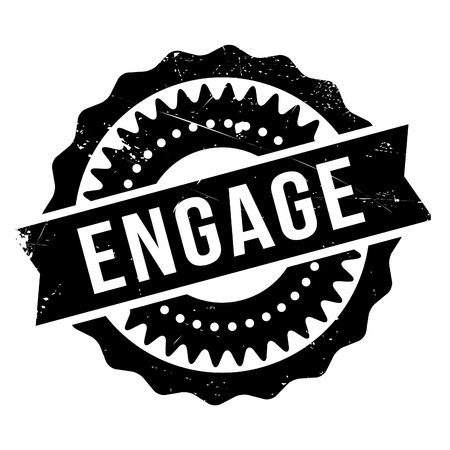 charter: Engage stamp. Grunge design with dust scratches. Effects can be easily removed for a clean, crisp look. Color is easily changed.