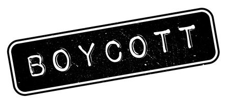 boycott: Boycott rubber stamp. Grunge design with dust scratches. Effects can be easily removed for a clean, crisp look. Color is easily changed.