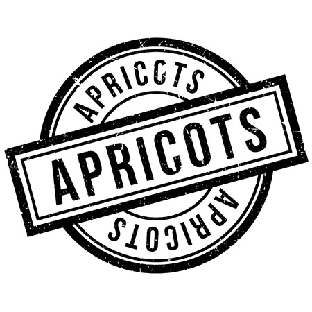 Apricots rubber stamp. Grunge design with dust scratches. Effects can be easily removed for a clean, crisp look. Color is easily changed. Illustration