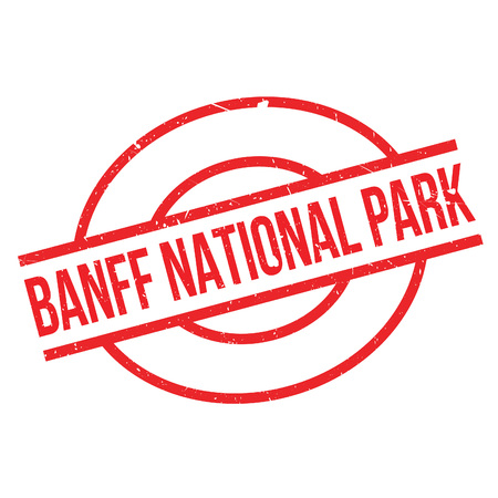 canada stamp: Banff National Park rubber stamp. Grunge design with dust scratches. Effects can be easily removed for a clean, crisp look. Color is easily changed. Illustration