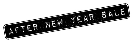 new look: After New Year Sale rubber stamp. Grunge design with dust scratches. Effects can be easily removed for a clean, crisp look. Color is easily changed.