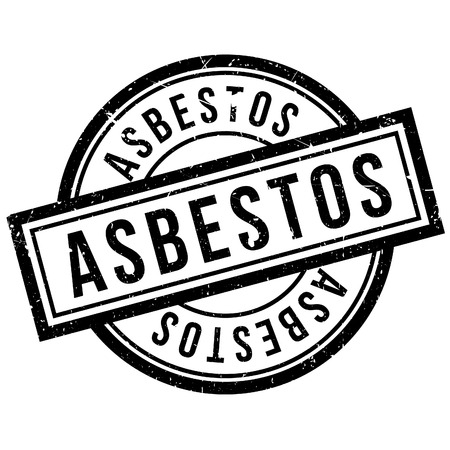 hazardous sign: Asbestos rubber stamp. Grunge design with dust scratches. Effects can be easily removed for a clean, crisp look. Color is easily changed.