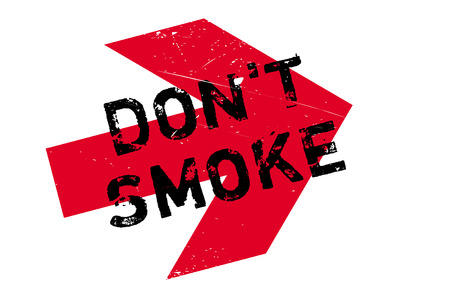 Dont smoke stamp. Grunge design with dust scratches. Effects can be easily removed for a clean, crisp look. Color is easily changed. Illustration