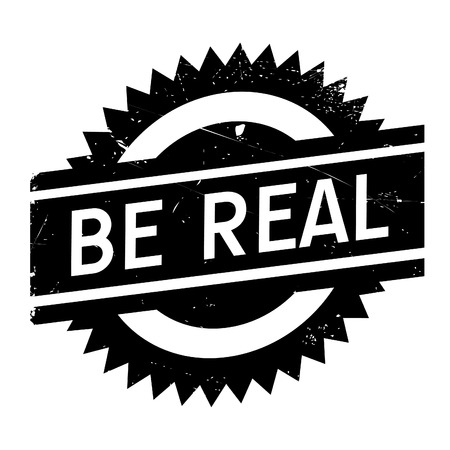 Be real stamp. Grunge design with dust scratches. Effects can be easily removed for a clean, crisp look. Color is easily changed.