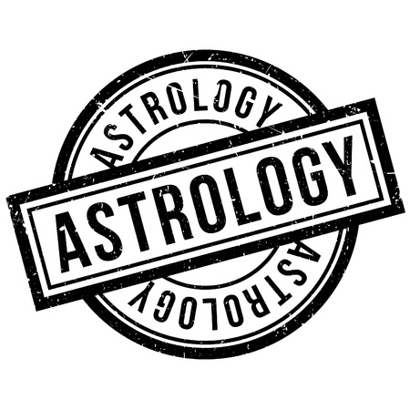 diviner: Astrology rubber stamp. Grunge design with dust scratches. Effects can be easily removed for a clean, crisp look. Color is easily changed.