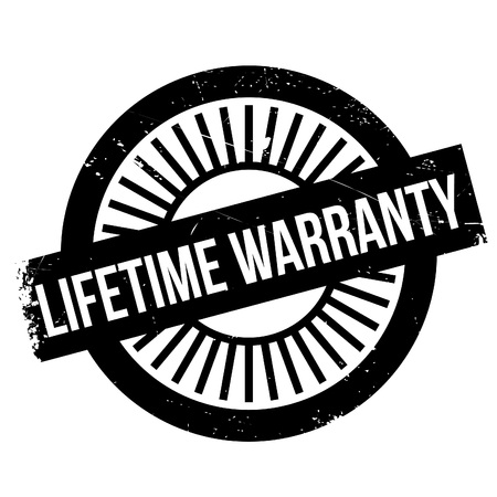 assertion: Lifetime warranty stamp. Grunge design with dust scratches. Effects can be easily removed for a clean, crisp look. Color is easily changed. Illustration
