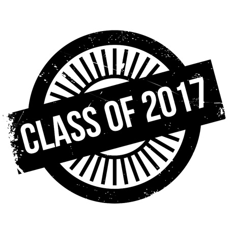 school class: Class of 2017 stamp. Grunge design with dust scratches. Effects can be easily removed for a clean, crisp look. Color is easily changed.