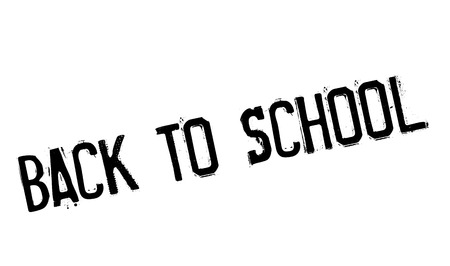 reconsider: Back to school stamp. Grunge design with dust scratches. Effects can be easily removed for a clean, crisp look. Color is easily changed. Illustration