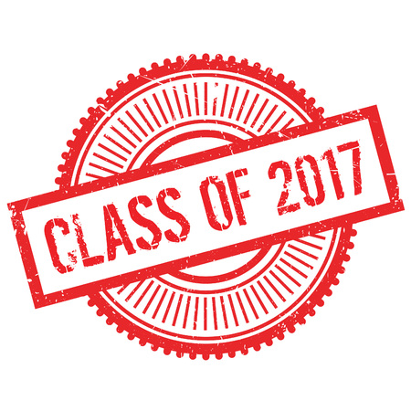 verb: Class of 2017 stamp. Grunge design with dust scratches. Effects can be easily removed for a clean, crisp look. Color is easily changed.