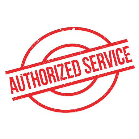 authorized: Authorized Service rubber stamp. Grunge design with dust scratches. Effects can be easily removed for a clean, crisp look. Color is easily changed.