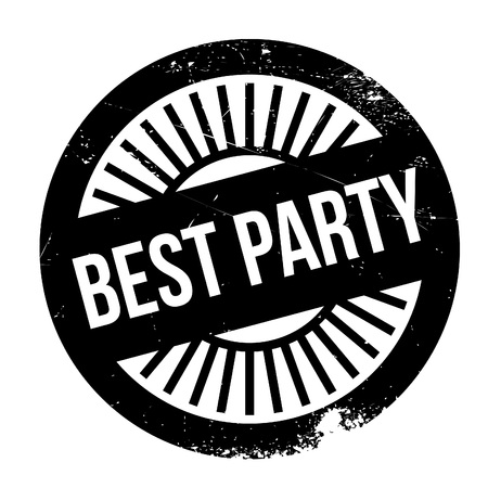 culminating: Best party stamp. Grunge design with dust scratches. Effects can be easily removed for a clean, crisp look. Color is easily changed.