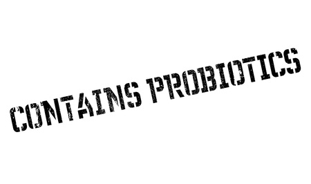 contains: Contains probiotics stamp. Grunge design with dust scratches. Effects can be easily removed for a clean, crisp look. Color is easily changed.