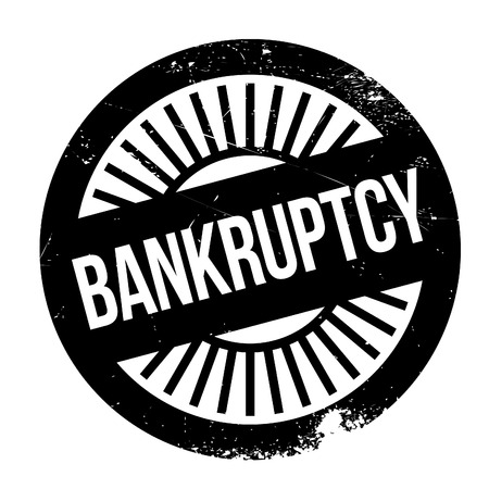 Bankruptcy stamp. Grunge design with dust scratches. Effects can be easily removed for a clean, crisp look. Color is easily changed.