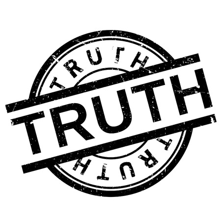 Truth stamp. Grunge design with dust scratches. Effects can be easily removed for a clean, crisp look. Color is easily changed.