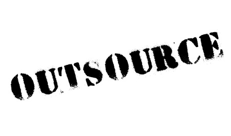 outsource: Outsource stamp. Grunge design with dust scratches. Effects can be easily removed for a clean, crisp look. Color is easily changed. Illustration