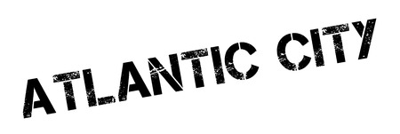 atlantic: Atlantic City rubber stamp. Grunge design with dust scratches. Effects can be easily removed for a clean, crisp look. Color is easily changed. Illustration