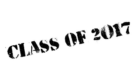 Class of 2017 stamp. Grunge design with dust scratches. Effects can be easily removed for a clean, crisp look. Color is easily changed.