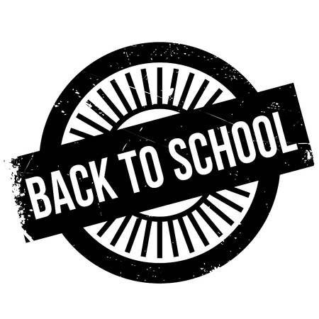 Back to school stamp. Grunge design with dust scratches. Effects can be easily removed for a clean, crisp look. Color is easily changed. Illustration