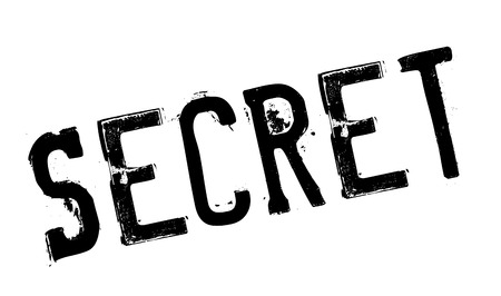 conspiratorial: Secret stamp. Grunge design with dust scratches. Effects can be easily removed for a clean, crisp look. Color is easily changed. Illustration