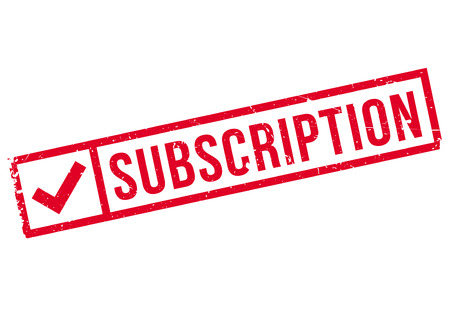 subscription: Subscription stamp. Grunge design with dust scratches. Effects can be easily removed for a clean, crisp look. Color is easily changed. Illustration