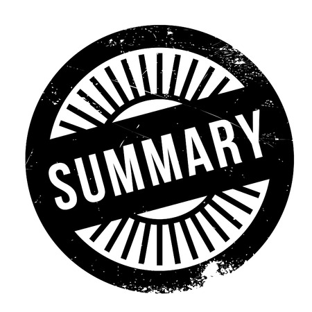 arbitrary: Summary stamp. Grunge design with dust scratches. Effects can be easily removed for a clean, crisp look. Color is easily changed. Illustration