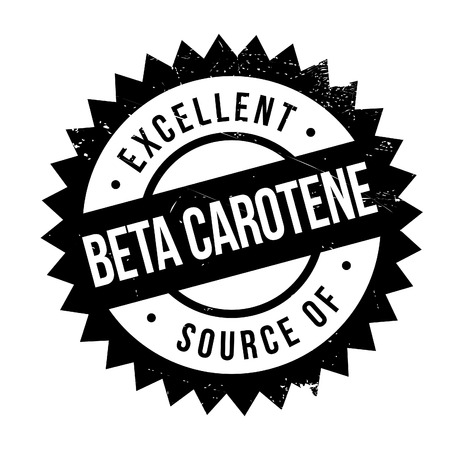 carotene: Excellent source of beta carotene stamp. Grunge design with dust scratches. Effects can be easily removed for a clean, crisp look. Color is easily changed.