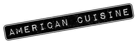 american cuisine: American Cuisine rubber stamp. Grunge design with dust scratches. Effects can be easily removed for a clean, crisp look. Color is easily changed.