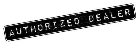 authorized: Authorized Dealer rubber stamp. Grunge design with dust scratches. Effects can be easily removed for a clean, crisp look. Color is easily changed.