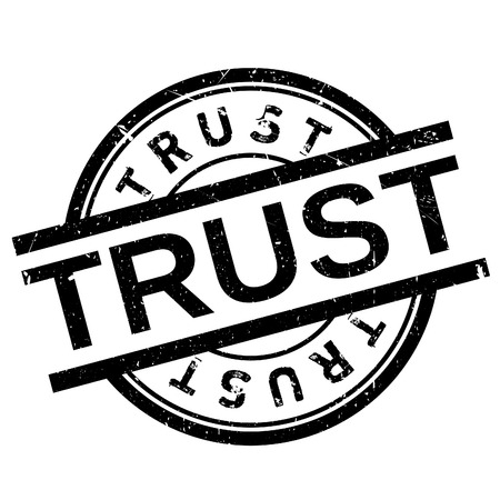 Trust stamp. Grunge design with dust scratches. Effects can be easily removed for a clean, crisp look. Color is easily changed. Illustration