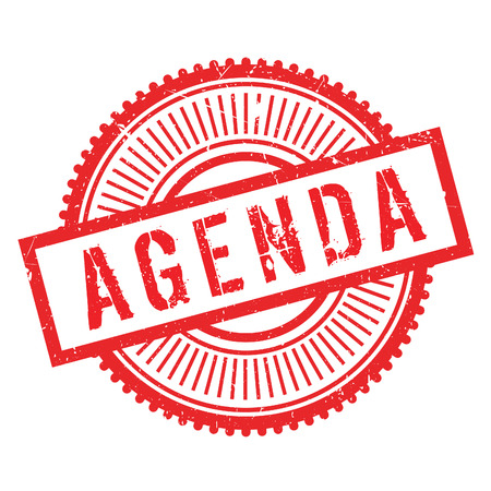 Agenda stamp. Grunge design with dust scratches. Effects can be easily removed for a clean, crisp look. Color is easily changed. Illustration