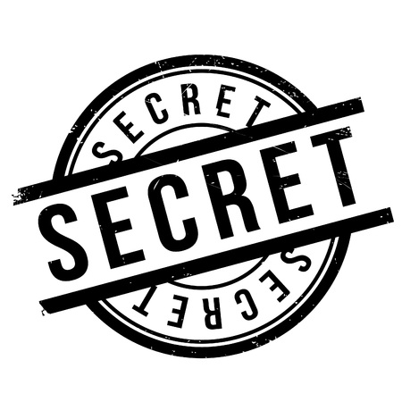 Secret stamp. Grunge design with dust scratches. Effects can be easily removed for a clean, crisp look. Color is easily changed. Illustration