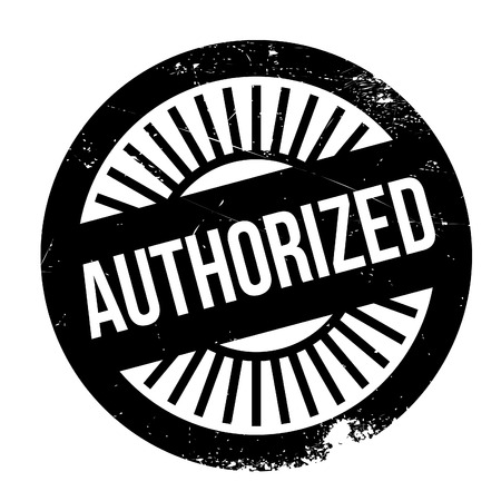 sanctioned: Authorized stamp. Grunge design with dust scratches. Effects can be easily removed for a clean, crisp look. Color is easily changed. Illustration