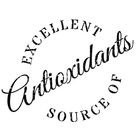 antioxidants: Excellent source of antioxidants stamp. Grunge design with dust scratches. Effects can be easily removed for a clean, crisp look. Color is easily changed.
