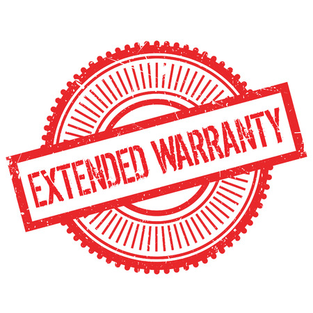 pledge: Extended warranty stamp. Grunge design with dust scratches. Effects can be easily removed for a clean, crisp look. Color is easily changed. Illustration