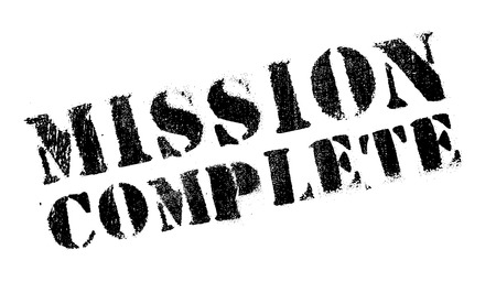 concluded: Mission complete stamp. Grunge design with dust scratches. Effects can be easily removed for a clean, crisp look. Color is easily changed.