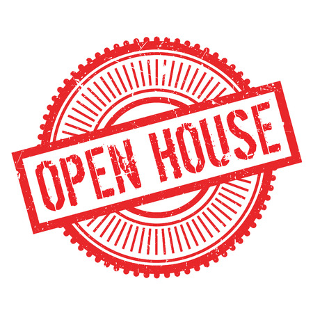 relaciones publicas: Open house stamp. Grunge design with dust scratches. Effects can be easily removed for a clean, crisp look. Color is easily changed.