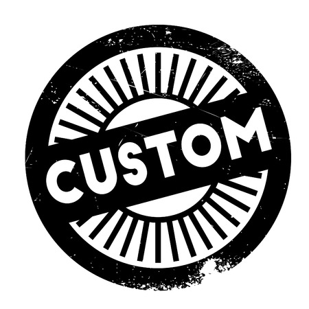 made to order: Custom stamp. Grunge design with dust scratches. Effects can be easily removed for a clean, crisp look. Color is easily changed.