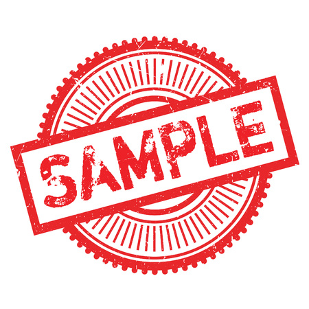 Sample stamp. Grunge design with dust scratches. Effects can be easily removed for a clean, crisp look. Color is easily changed.