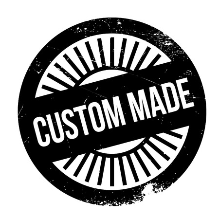 Custom made stamp. Grunge design with dust scratches. Effects can be easily removed for a clean, crisp look. Color is easily changed. Illustration