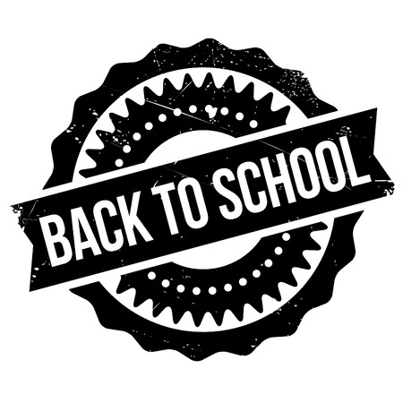 react: Back to school stamp. Grunge design with dust scratches. Effects can be easily removed for a clean, crisp look. Color is easily changed. Illustration